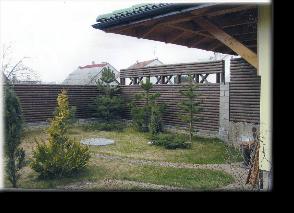 Заборы из бревен